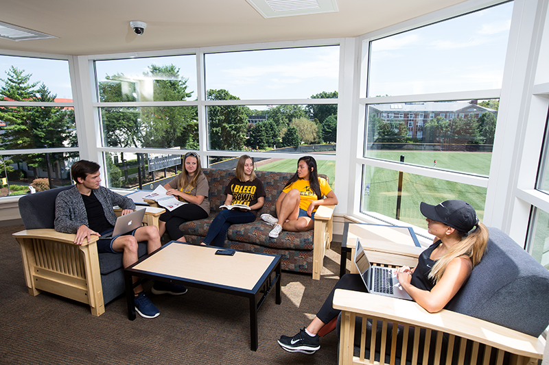 Adelphi dorm common areas to hang out with friends