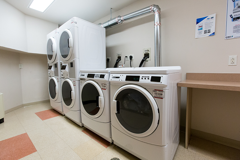 Washers and dryers at Adelphi University dorms