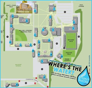 Adelphi Campus Map Water Bottle Filling Stations | Adelphi University